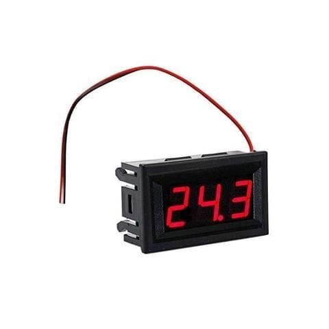 "EMERGING TECHS Digital LED DC Voltmeter 5-30V Panel 2 Wire 0.56"" Voltage Meter RED Battery Monitor"