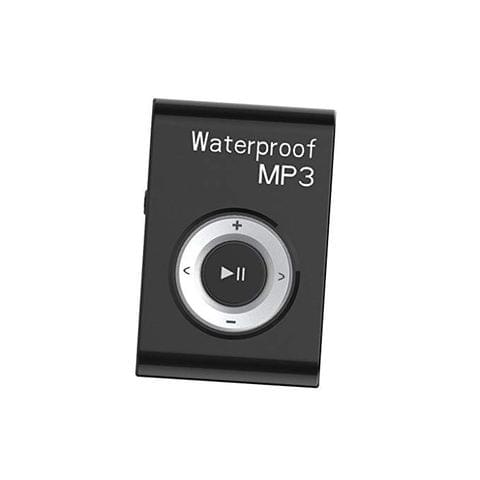 Portable Waterproof Mp3 Music Player Stereo Sound FM Radio with Clip Hanging Type 4GB Black