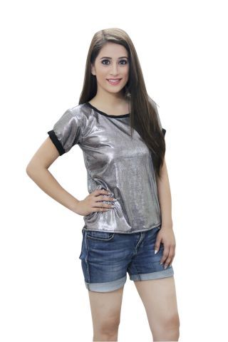 Grey Shimmer Party Top