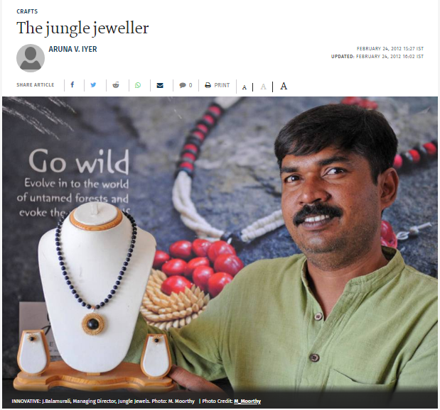 Jungle Jewels in The Hindu