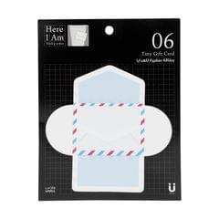 بطاقات هدايا لاصقة بتصميم ظرف بريدي