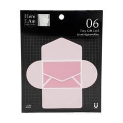 بطاقات هدايا لاصقة بتصميم ظرف بريدي بلون وردي