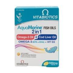 Aquamarine Omega3+Codliveroil 60Capsules