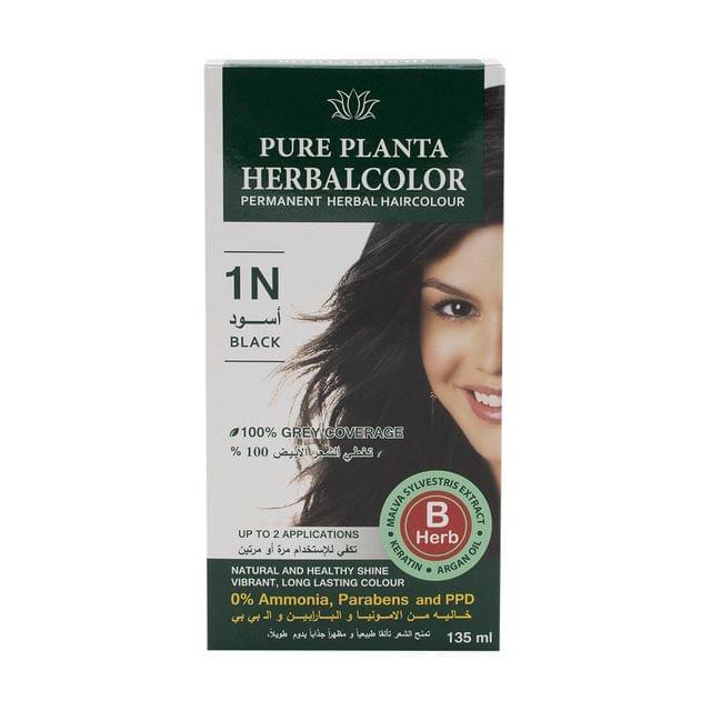 هيربال صبغة شعرجل ثابتة ( أسود 1N)