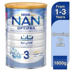 حليب نان اوبتي برو من نستله بتركيبة النمو للاطفال بعمر 1-3 سنوات، حجم 1800 غرام