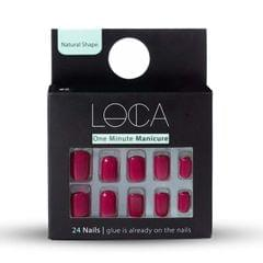 Natural Shape Nails 11 Deep Red