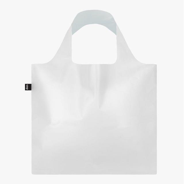 حقيبة تسوق شفافة بيضاء