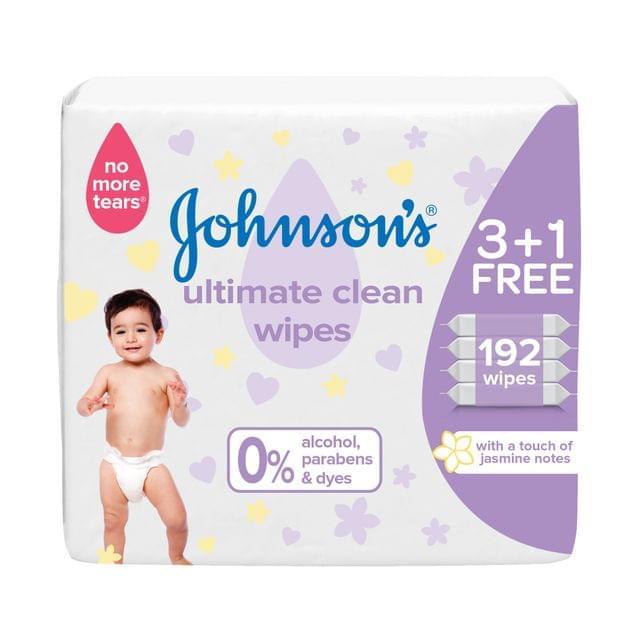 مناديل لتنظيف بشرة الأطفال عبوة من 192 منديل