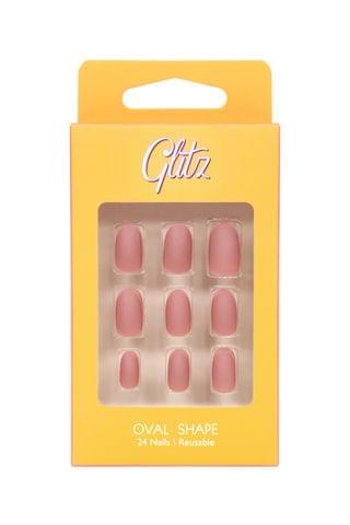 جليتز اظافر صناعية لصق ذاتي لون لحمي مطفي #4