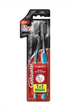فرشاة أسنان رفيعة بشعيرات ناعمة 1+1 مجانا