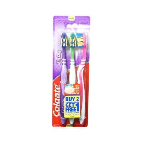مجموعة فرشاة الأسنان بشعيرات مموجة 2+1 مجاناً