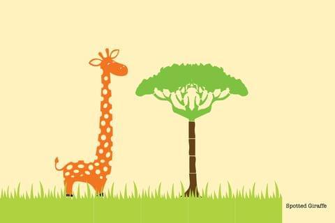 Stencil - Spotted Giraffe - 16.53 inches x 11.69 inches