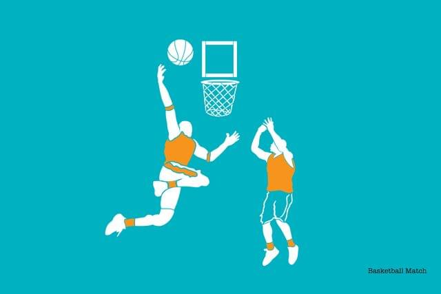 Stencil - Basketball Match - 16.53 inches x 11.69 inches