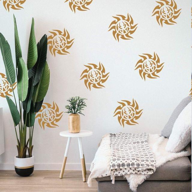 Berger Silk Designzz Sunburst Stencil 7.87 x 7.87 inches