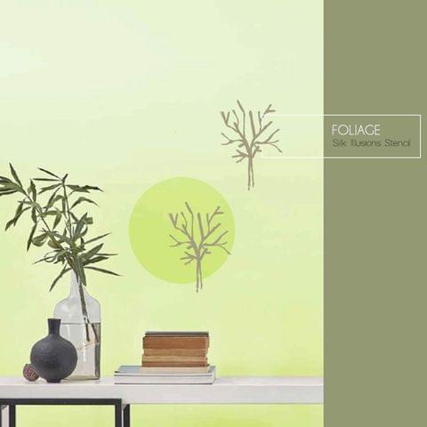 Berger Silk Designzz Foliage Plastic Stencil 7.87 x 7.87 inches