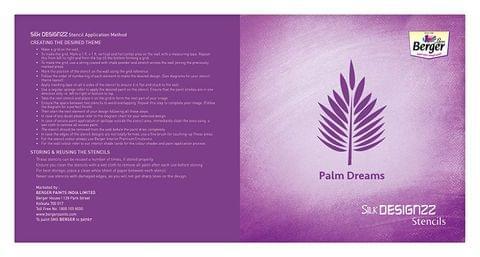 Berger Silk Designzz Palm Dreams Stencil 7.87 x 7.87 inches