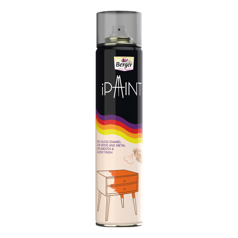 Black Spray Paint by Berger iPaint - 400ml