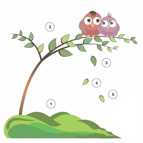 """DIY Wall Stickers Two Owls for Home Décor (12""""X12"""")"""
