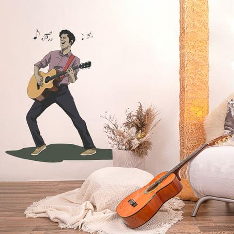 "DIY Wall Stickers Guitarist for Home Décor (24""X24"")"