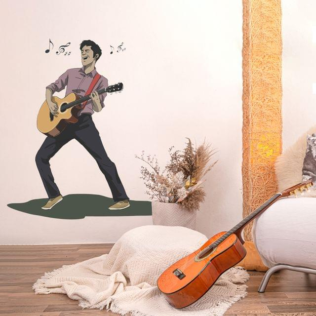 """DIY Wall Stickers Guitarist for Home Décor (24""""X24"""")"""