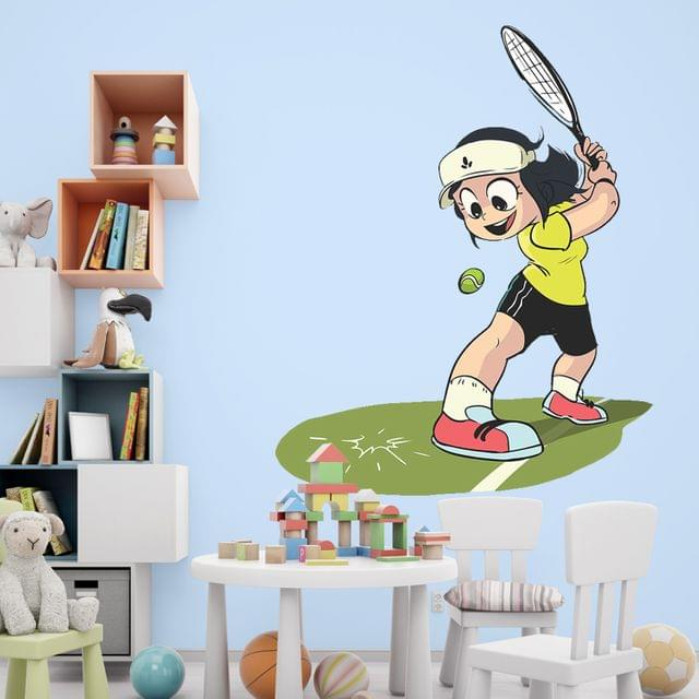 "DIY Wall Stickers Girl Tennis for Home Décor (24""X18"")"