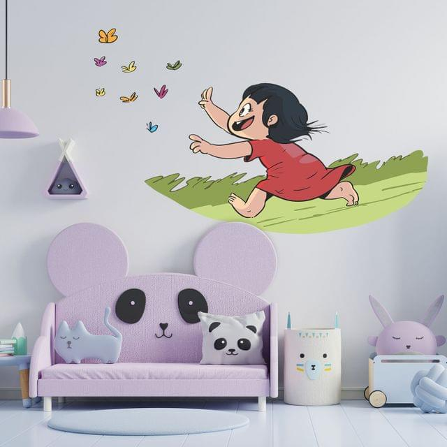 """DIY Wall Stickers Girl & Butterfly for Home Décor (24""""X18"""")"""