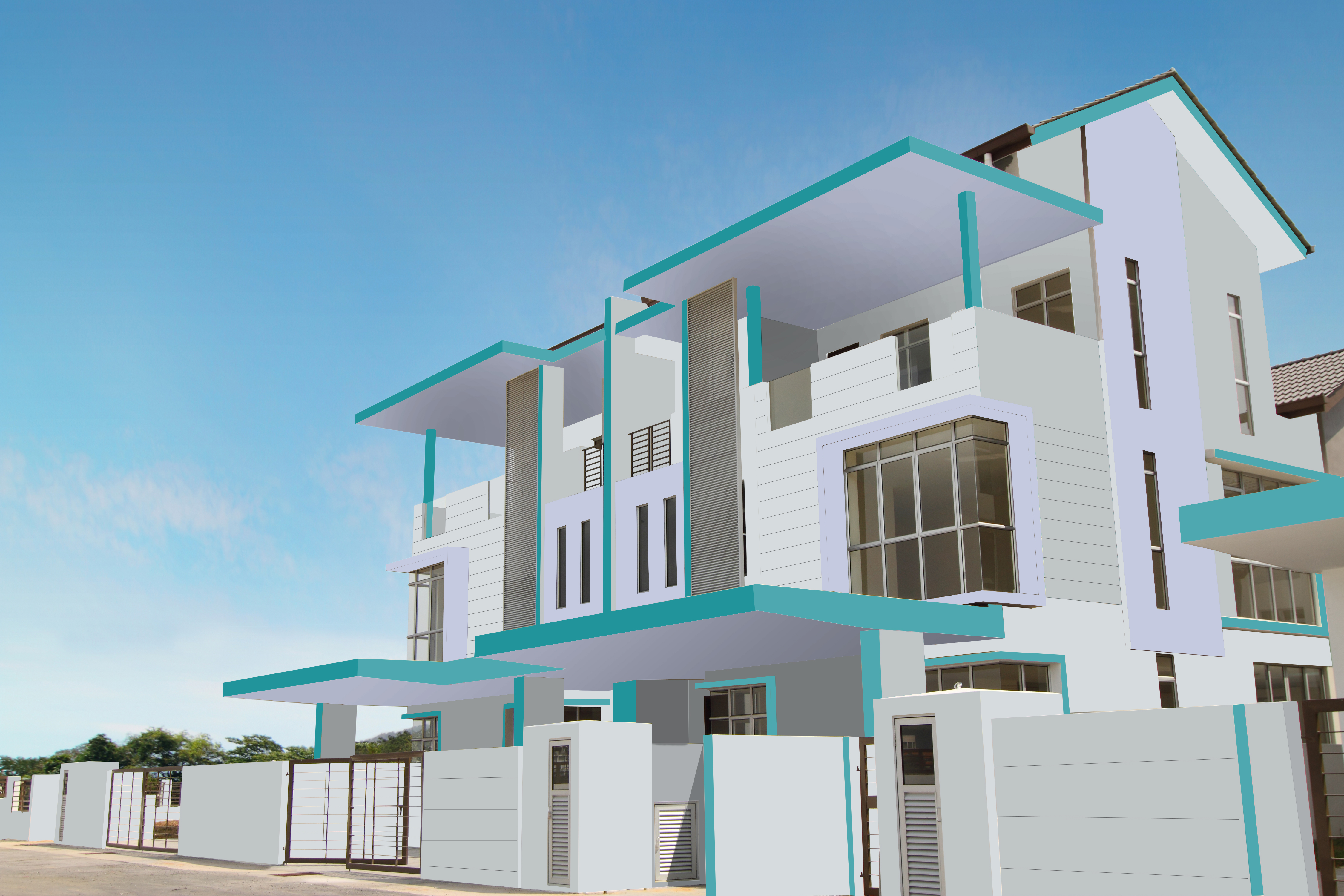 2 storeyed residence