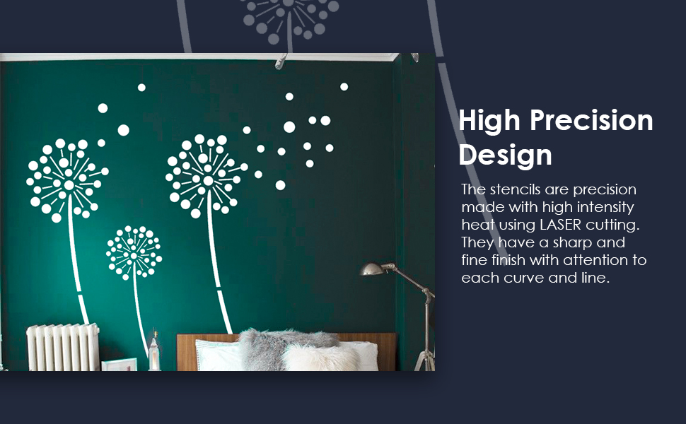 Wall Stencils Spinning Star Silk Glamour Berger Paints