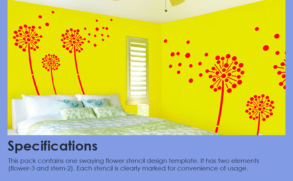 Wall Stencil Spinning Stars Silk Glamor Berger Paints