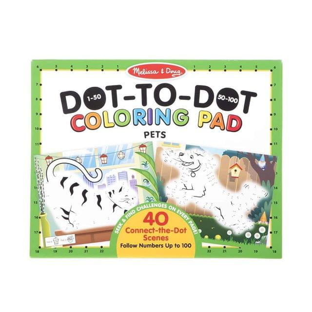 123 DOT-TO-DOT COLORING PADS - PETS