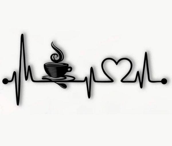 Wall décor -Coffee heart beat -Life line