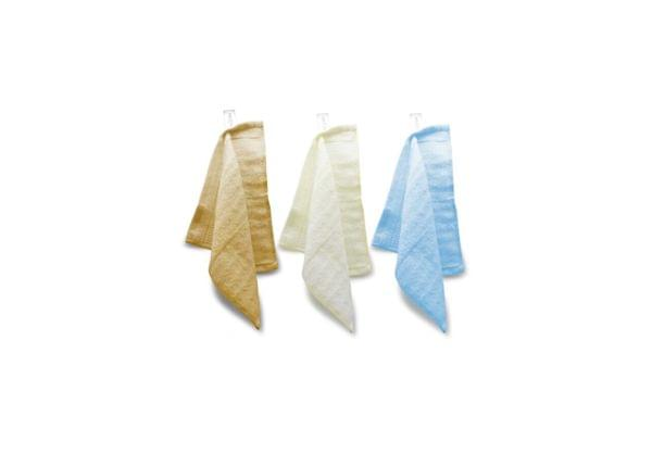 Bamboo Face / Sports Towel Pack of 3 (Golden Brown, Cream, Sky Blue)