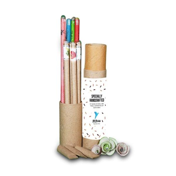 4 Plantable Pens & 4 Plantable Pencils [ pack of 8 in a Tube]