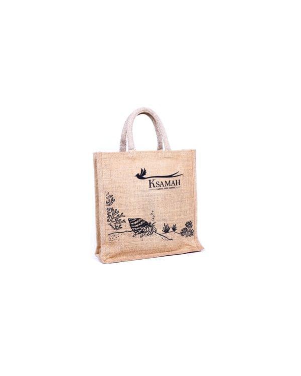 Jute Lunch Tote Bag