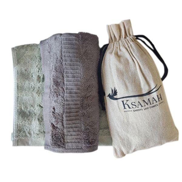 Bamboo Hand Towel Green Colour - Set of 2