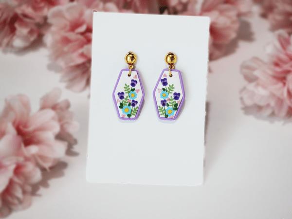 Purple Meadows Earrings