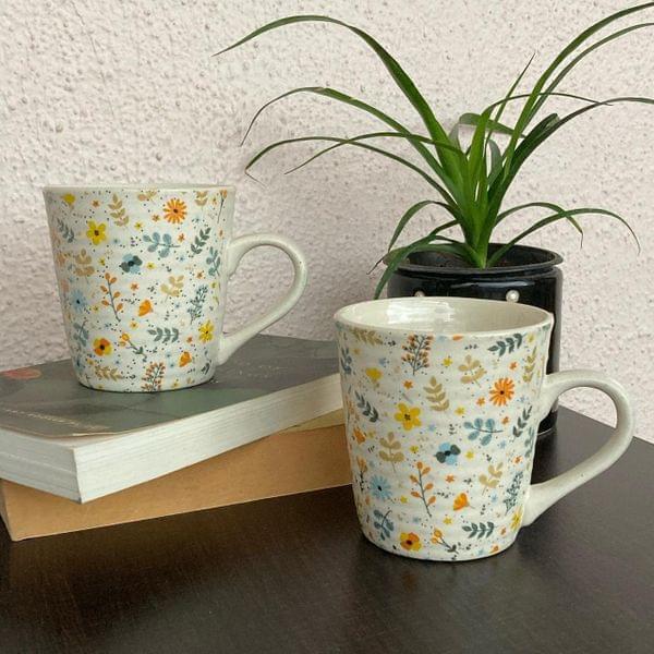 Floral White Coffee mug (1Pc)