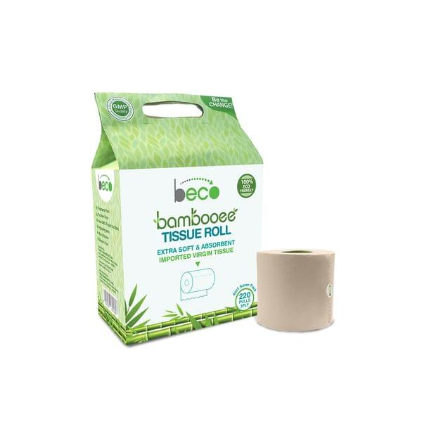 Bambooee Tissue Roll (3 Ply) - 220 Pulls - 4in1 (Value Pack)