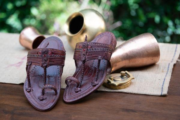 Ribbit Braid Kapashi Design Men's Kolhapuri Chappal